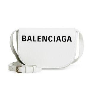 Balenciaga Small Ville Calfskin Saddle Bag